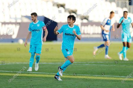 "Stock Photo of Gaku Shibasaki (Leganes) - Football / Soccer : Spanish ""La Liga Smartbank"" match between CD Leganes 2-1 CE Sabadell FC at the Estadio Municipal de Butarque in Leganes, Spain."