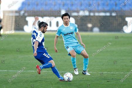 "Stock Image of Gaku Shibasaki (Leganes) - Football / Soccer : Spanish ""La Liga Smartbank"" match between CD Leganes 2-1 CE Sabadell FC at the Estadio Municipal de Butarque in Leganes, Spain."