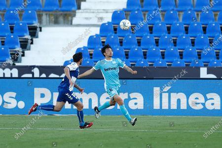 "Stock Picture of Gaku Shibasaki (Leganes) - Football / Soccer : Spanish ""La Liga Smartbank"" match between CD Leganes 2-1 CE Sabadell FC at the Estadio Municipal de Butarque in Leganes, Spain."