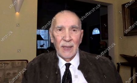 """In this image from video, Frank Langella speaks immediately following the announcement of his Screen Actors Guild Award win for outstanding performance by a cast in a motion picture for """"The Trial of The Chicago 7"""" on . The 27th annual SAG Awards airs Sunday, April 4"""