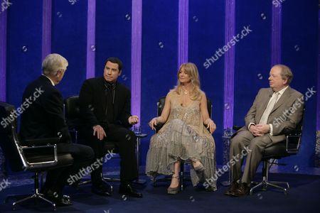 Michael Parkinson with John Travolta, Goldie Hawn and John Sergeant