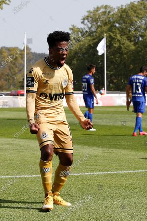 Angel Gomes celebrates his goal during the game for Liga NOS between Belenenses SAD and Boavista FC, at Estadio Nacional, Lisboa, Portugal, 04, April, 2021