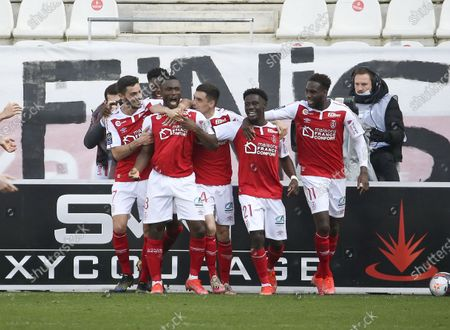 Editorial photo of French football Ligue 1 match, Stade de Reims vs Stade Rennais (Rennes), Reims, France - 04 Apr 2021
