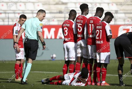 Editorial picture of French football Ligue 1 match, Stade de Reims vs Stade Rennais (Rennes), Reims, France - 04 Apr 2021