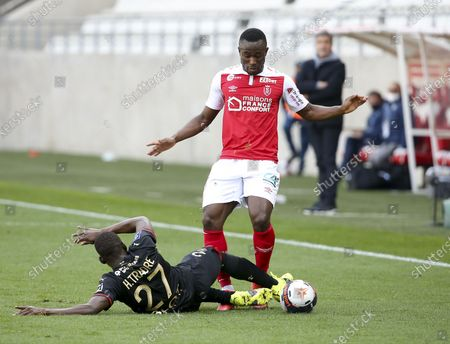 Editorial image of French football Ligue 1 match, Stade de Reims vs Stade Rennais (Rennes), Reims, France - 04 Apr 2021