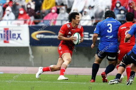 Ryohei Yamanaka - Rugby : Japan Rugby Top League 2021 match between Kobelco Steelers 13-13 Panasonic Wild Knights at Kobe Universiade Memorial Stadium in Kobe, Japan.