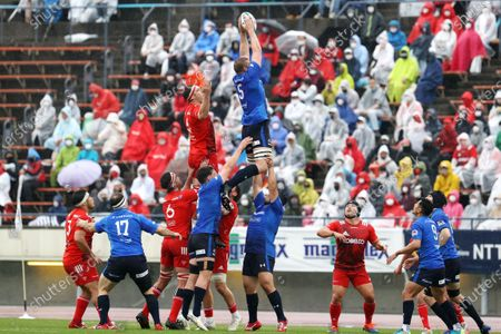 George Kruis - Rugby : Japan Rugby Top League 2021 match between Kobelco Steelers 13-13 Panasonic Wild Knights at Kobe Universiade Memorial Stadium in Kobe, Japan.