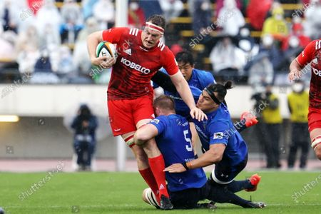 Stock Image of Brodie Retallick - Rugby : Japan Rugby Top League 2021 match between Kobelco Steelers 13-13 Panasonic Wild Knights at Kobe Universiade Memorial Stadium in Kobe, Japan.