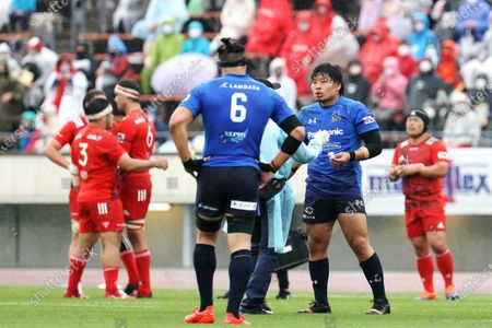 Editorial picture of Japan Rugby Top League 2021: Kobelco Steelers 13-13 Panasonic Wild Knights, Kobe, Hyogo, Japan - 04 Apr 2021