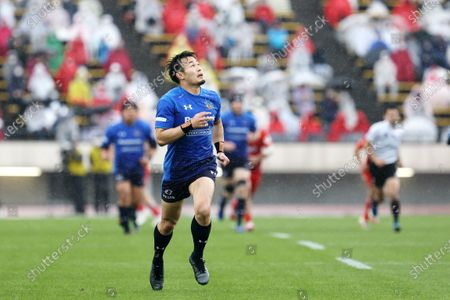 Kenki Fukuoka - Rugby : Japan Rugby Top League 2021 match between Kobelco Steelers 13-13 Panasonic Wild Knights at Kobe Universiade Memorial Stadium in Kobe, Japan.