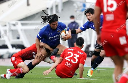 Shota Horie - Rugby : Japan Rugby Top League 2021 match between Kobelco Steelers 13-13 Panasonic Wild Knights at Kobe Universiade Memorial Stadium in Kobe, Japan.