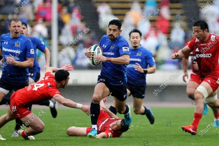 Keisuke Uchida - Rugby : Japan Rugby Top League 2021 match between Kobelco Steelers 13-13 Panasonic Wild Knights at Kobe Universiade Memorial Stadium in Kobe, Japan.