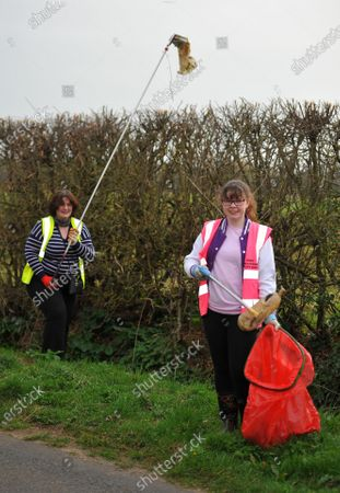 Editorial photo of Picking litter for Lent, Fairford, Gloucestershire, UK - 03 Apr 2021
