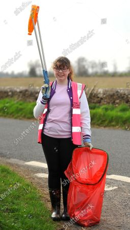 Editorial picture of Picking litter for Lent, Fairford, Gloucestershire, UK - 03 Apr 2021