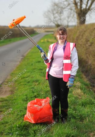 Editorial image of Picking litter for Lent, Fairford, Gloucestershire, UK - 03 Apr 2021