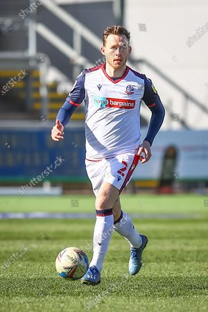 Bolton Wanderer's Gethin Jones (2) in action during the EFL Sky Bet League 2 match between Newport County and Bolton Wanderers at Rodney Parade, Newport
