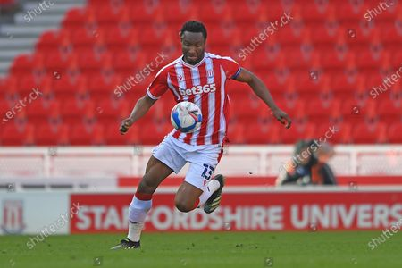 Stoke City midfielder Mikel John Obi (13) during the EFL Sky Bet Championship match between Stoke City and Millwall at the Bet365 Stadium, Stoke-on-Trent