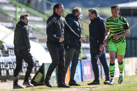 Salford City manager Gary Bowyer  during the EFL Sky Bet League 2 match between Forest Green Rovers and Salford City at the New Lawn, Forest Green