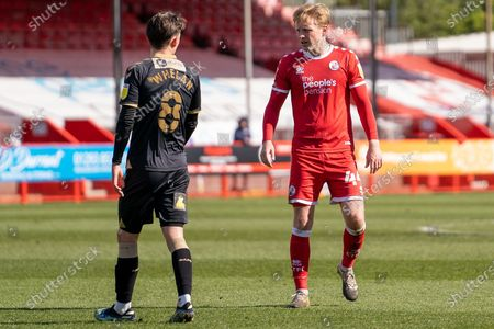 Crawley Town midfielder Josh Wright (#44) during the EFL Sky Bet League 2 match between Crawley Town and Oldham Athletic at The People's Pension Stadium, Crawley
