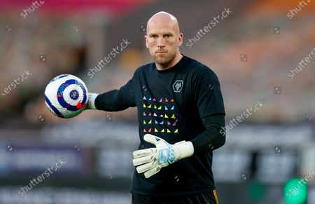 Stock Picture of Wolverhampton Wanderers goalkeeper John Ruddy (21) warming up  during the Premier League match between Wolverhampton Wanderers and West Ham United at Molineux, Wolverhampton