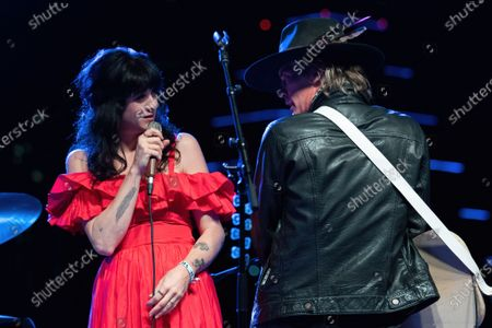 Nikki Lane and Charlie Sexton perform during the Long Live Music socially distanced concert event hosted by Luck Reunion and The Long Center
