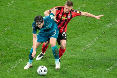 Editorial photo of Russian Premier League, FC Zenit v FC Khimki, Saint Petersburg, Russia - 05 Apr 2021