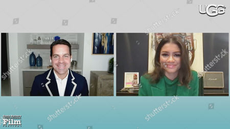 Stock Picture of Dave Karger (Moderator), Zendaya (Malcolm & Marie)