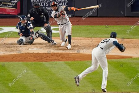 Editorial photo of Orioles Yankees Baseball, New York, United States - 05 Apr 2021