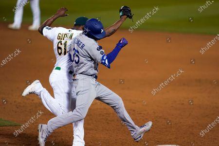 Editorial image of Dodgers Athletics Baseball, Oakland, United States - 05 Apr 2021