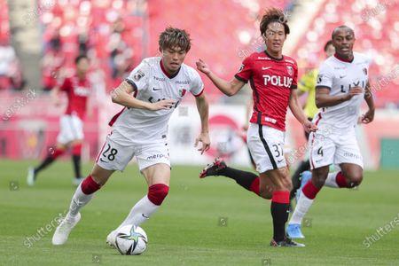 (L to R) Koki Machida (Antlers), Hidetoshi Takeda (Reds) - Football / Soccer : 2021 J1 League match between Urawa Red Diamonds 2-1 Kashima Antlers at Saitama Stadium 2002, Saitama, Japan.