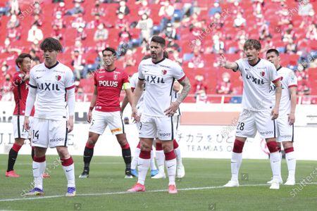 (L to R) Katsuya Nagato, Everaldo, Koki Machida (Antlers) - Football / Soccer : 2021 J1 League match between Urawa Red Diamonds 2-1 Kashima Antlers at Saitama Stadium 2002, Saitama, Japan.