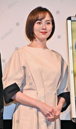 """Stock Photo of Actress Manami Higa attends the stage greeting for """"Otsunahiki no Koi"""" in Tokyo, Japan."""