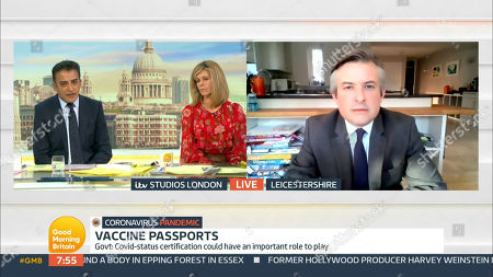 Editorial picture of 'Good Morning Britain' TV Show, London, UK - 06 Apr 2021