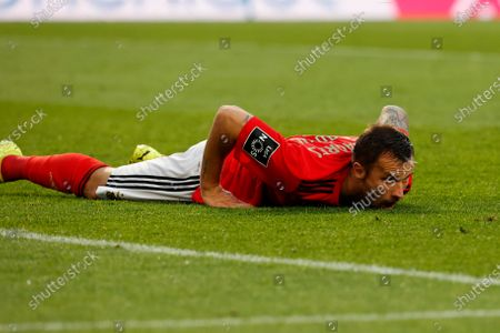 Haris Seferovic misses an opportunity during the game for Liga NOS between SL Benfica and Maritimo, at Estadio da Luz, Lisboa, Portugal, 05, April, 2021