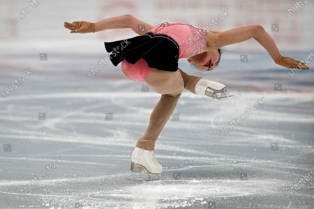 Chinese skater An Xiangyi performs her women's single skating short program during a test event for the 2022 Beijing Winter Olympics at the Capital Indoor Stadium in Beijing, . The organizers of the 2022 Beijing Winter Olympics has started 10 days of testing for several sport events in five different indoor venues from April 1-10, becoming the first city to hold both the Winter and Summer Olympics
