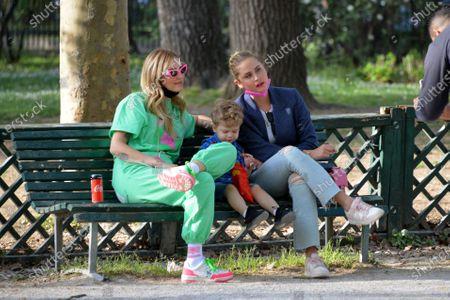 Editorial picture of Chiara Ferragni and son at Sempione Park, Milan, Italy - 05 Apr 2021