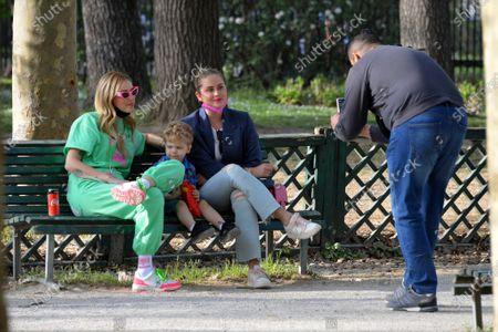 Editorial image of Chiara Ferragni and son at Sempione Park, Milan, Italy - 05 Apr 2021