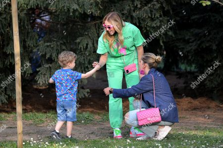 Editorial photo of Chiara Ferragni and son at Sempione Park, Milan, Italy - 05 Apr 2021