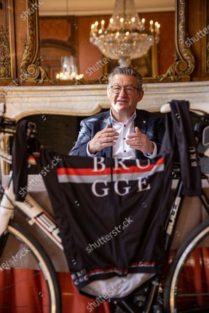 Brugge mayor Dirk De Fauw pictured during a press conference regarding the starting city for the 6 next editions of the 'Ronde van Vlaanderen' one day cycling race, Tuesday 06 April 2021 in Brugge.