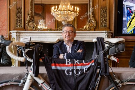Stock Image of Brugge mayor Dirk De Fauw pictured during a press conference regarding the starting city for the 6 next editions of the 'Ronde van Vlaanderen' one day cycling race, Tuesday 06 April 2021 in Brugge.