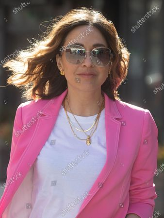 Editorial picture of Myleene Klass arrives at Global Radio, Leicester Square, London, UK - 06 Apr 2021