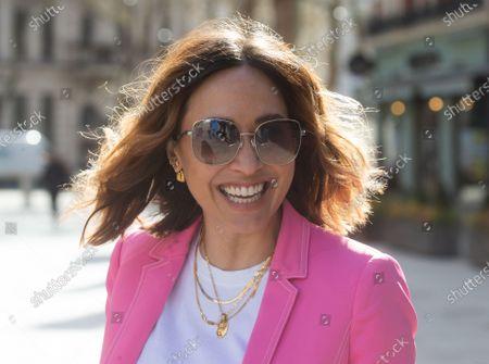 Editorial image of Myleene Klass arrives at Global Radio, Leicester Square, London, UK - 06 Apr 2021