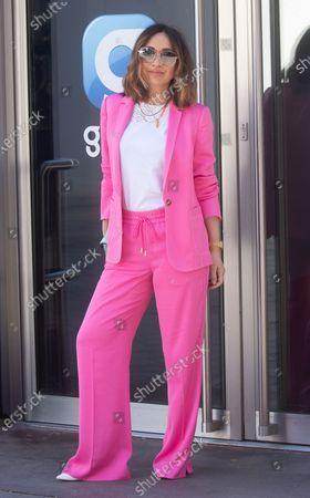 Stock Picture of Myleene Klass arrives at the Global Radio studios on her 43rd birthday.