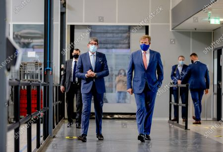 King Willem Alexander visits new warehouse CB opening, Culemborg