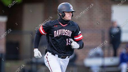 Davidson OF/INF Ryan Wilson (19) during an NCAA baseball game, in Davidson, N.C
