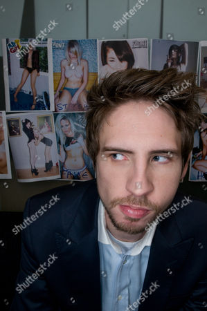 Editorial image of Dominic McVey, part owner of Front magazine, at Front's Soho office, London, Britain - 22 Feb 2010