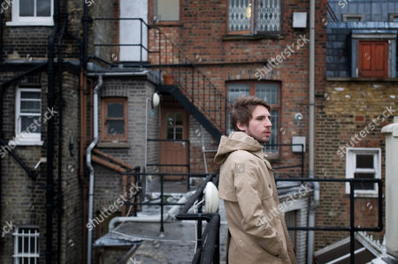 Editorial photo of Dominic McVey, part owner of Front magazine, at Front's Soho office, London, Britain - 22 Feb 2010