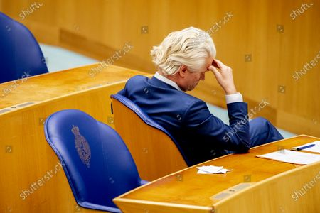 Geert Wilders pvv during the debate in the House of Representatives about the appointment and assignment of an informateur. The informateur must find out which parties want to form a cabinet together.