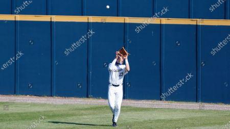Oral Roberts outfielder Joshua Cox (23) during an NCAA baseball game on in Tulsa, Okla