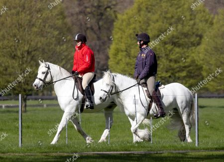 Lady Louise Windsor heads out for a Morning ride, Windsor